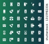 receiver icon set. collection... | Shutterstock .eps vector #1315982336
