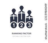 ranking factor icon on white... | Shutterstock .eps vector #1315984049