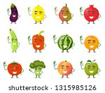 large set of funny fruits and... | Shutterstock .eps vector #1315985126