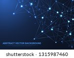 abstract plexus background with ... | Shutterstock .eps vector #1315987460