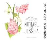 marriage invitation card with... | Shutterstock .eps vector #1315987853