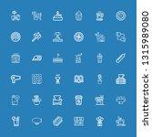 editable 36 hot icons for web... | Shutterstock .eps vector #1315989080
