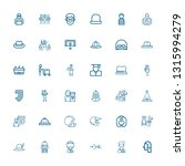 editable 36 uniform icons for... | Shutterstock .eps vector #1315994279