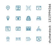 editable 16 contemporary icons...