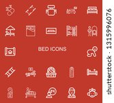 editable 22 bed icons for web... | Shutterstock .eps vector #1315996076