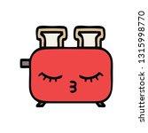 cute cartoon of a of a toaster | Shutterstock .eps vector #1315998770