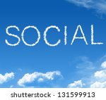 clouds forming the word social... | Shutterstock . vector #131599913