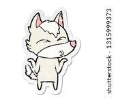 distressed sticker of a cartoon ... | Shutterstock .eps vector #1315999373