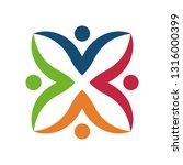 colorful teamwork logo | Shutterstock .eps vector #1316000399