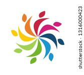 colorful teamwork logo | Shutterstock .eps vector #1316000423