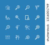 editable 16 loupe icons for web ... | Shutterstock .eps vector #1316001749