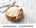 cottage cheese  tvorog or... | Shutterstock . vector #1316001896