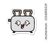 sticker of a cute cartoon of a... | Shutterstock .eps vector #1316003219