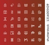 editable 36 closed icons for... | Shutterstock .eps vector #1316005439