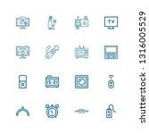 editable 16 analog icons for... | Shutterstock .eps vector #1316005529