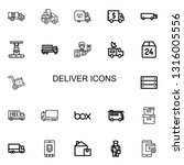 editable 22 deliver icons for... | Shutterstock .eps vector #1316005556
