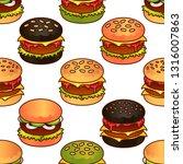 food seamless vector pattern... | Shutterstock .eps vector #1316007863