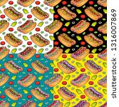 food seamless vector pattern... | Shutterstock .eps vector #1316007869