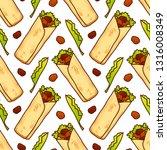 food seamless vector pattern... | Shutterstock .eps vector #1316008349