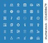 editable 36 machine icons for... | Shutterstock .eps vector #1316008679