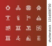 editable 16 robotic icons for... | Shutterstock .eps vector #1316008730