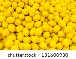 Colorful Display Of Lemons In...