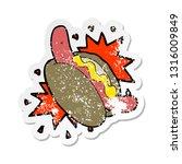 retro distressed sticker of a...   Shutterstock .eps vector #1316009849