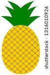 pineapple icon. vector tropical ...   Shutterstock .eps vector #1316010926