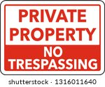 square sign private property | Shutterstock .eps vector #1316011640
