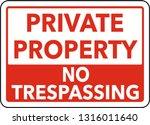 Square Sign Private Property