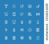 editable 25 exam icons for web... | Shutterstock .eps vector #1316012630