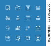 editable 16 carton icons for... | Shutterstock .eps vector #1316012720