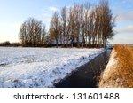 Dutch Farmhouse In Winter By...