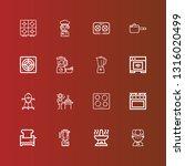 editable 16 cooker icons for... | Shutterstock .eps vector #1316020499