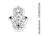 retro distressed sticker of a... | Shutterstock .eps vector #1316023136