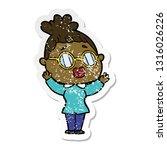 distressed sticker of a cartoon ...   Shutterstock .eps vector #1316026226