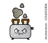 retro grunge texture cartoon of ... | Shutterstock .eps vector #1316031806