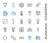 badge icons set. collection of... | Shutterstock .eps vector #1316035943