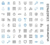 secure icons set. collection of ... | Shutterstock .eps vector #1316039633