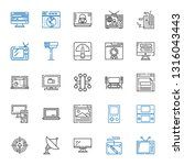 monitor icons set. collection... | Shutterstock .eps vector #1316043443
