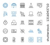 safe icons set. collection of... | Shutterstock .eps vector #1316043710