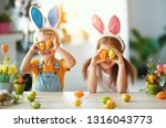 happy easter  funny funny... | Shutterstock . vector #1316043773