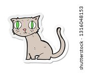 sticker of a cartoon cat | Shutterstock .eps vector #1316048153