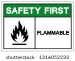 safety first flammable symbol... | Shutterstock .eps vector #1316052233