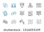 discussion icons set.... | Shutterstock .eps vector #1316053109