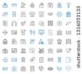card icons set. collection of... | Shutterstock .eps vector #1316053133
