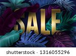 vector advertising banner with... | Shutterstock .eps vector #1316055296