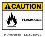caution flammable symbol sign ... | Shutterstock .eps vector #1316055983