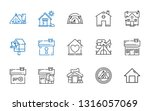 shelter icons set. collection... | Shutterstock .eps vector #1316057069