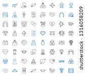 marriage icons set. collection... | Shutterstock .eps vector #1316058209